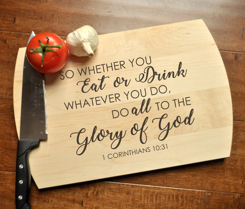 Glory of God Cutting Board - Christian Cutting Board, Personalized Wed