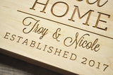 Home Sweet Home Cutting Board, Engraved Cutting Board, Custom Personalized Wedding Gift, Housewarming Gift, Anniversary Gift, Realtor Gift-Circle City Design Co.