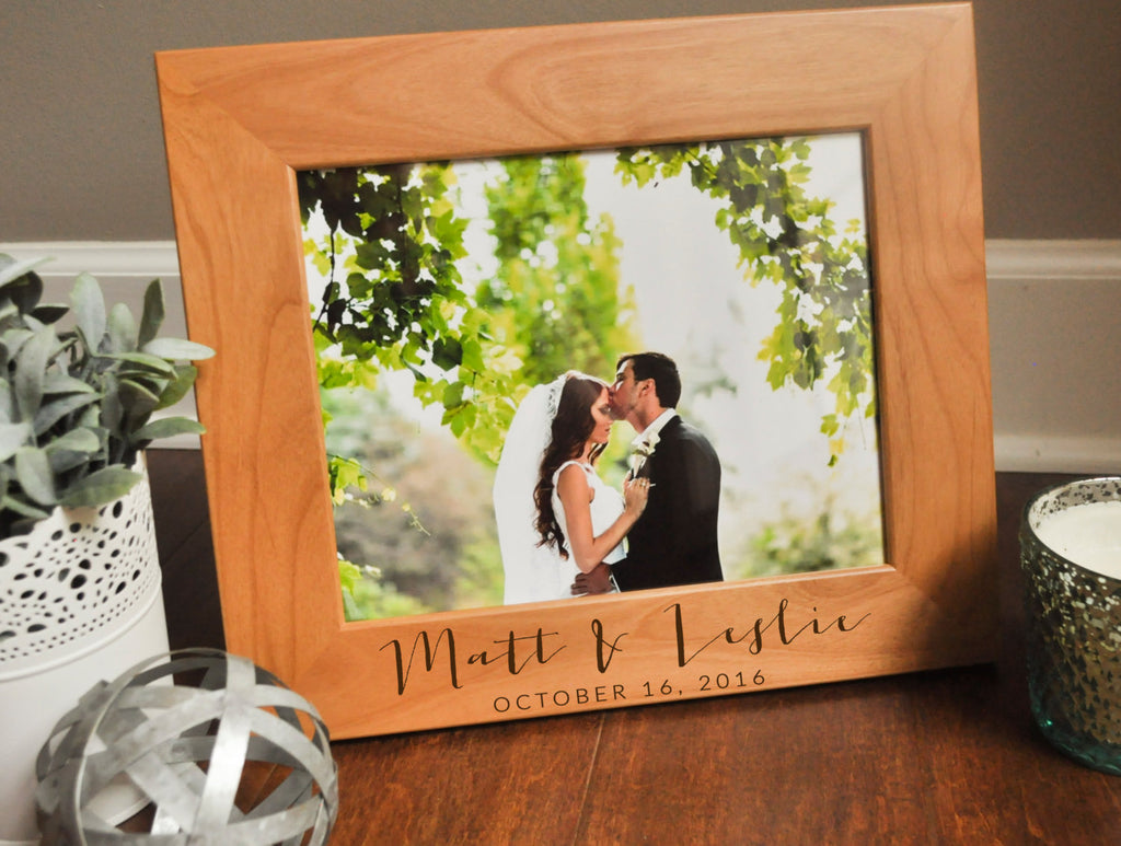 Personalized Picture Frame, Engraved Photo Frame, Custom Wedding Gift,