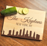 New York Cutting Board, Personalized Cutting Board, Engraved Cutting Board, Custom Personalized Wedding Gift, NYC, New York City-Circle City Design Co.