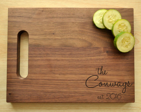 Personalized Cutting Board, Custom Cutting Board, Engraved, Personalized Wedding Gift, Housewarming Gift, Anniversary Gift, Christmas Gift-Circle City Design Co.