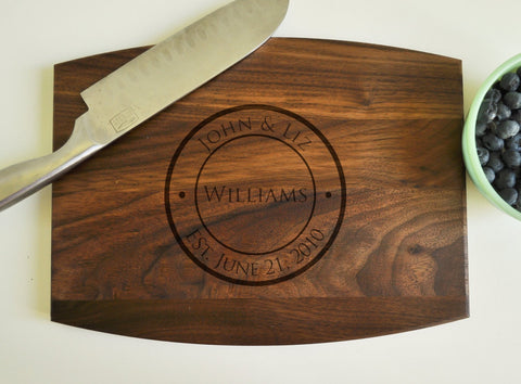 Personalized Cutting Board - Custom Cutting Board, Personalized Wedding Gift, Housewarming Gift, Anniversary Gift, Couple Cutting Board-Circle City Design Co.