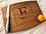 Personalized Cutting Board - Custom Cutting Board, Personalized Wedding Gift, Housewarming Gift, Anniversary Gift, Monogram, Engraved Walnut-Circle City Design Co.