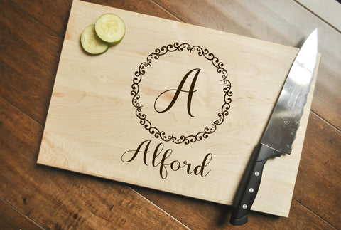 Personalized Cutting Board - Engraved, Custom Cutting Board, Personalized Wedding Gift, Housewarming Gift, Anniversary Gift, Christmas Gift-Circle City Design Co.