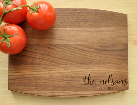 Personalized Cutting Board, Engraved, Custom Cutting Board, Personalized Wedding Gift, Housewarming Gift, Anniversary Gift, Monogram-Circle City Design Co.