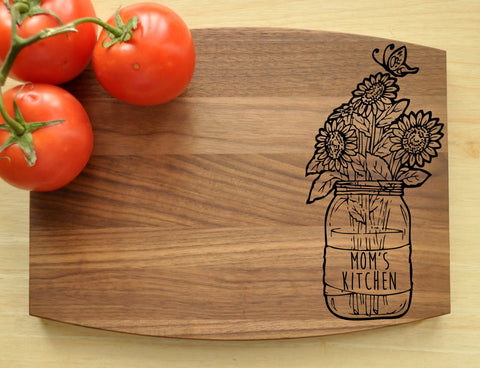 Personalized Cutting Board, Engraved, Custom Cutting Board, Personalized Wedding Gift, Mother's Day Gift, Mother's Day, Mom's Kitchen, Mom-Circle City Design Co.