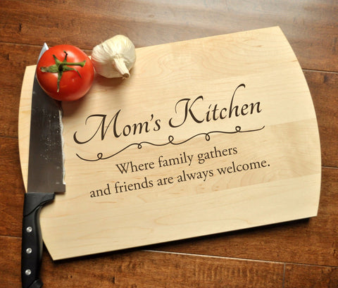 Personalized Cutting Board - Engraved Cutting Board, Custom Cutting Board, Mother's Day Gift, Mother's Day, Mom Kitchen, Mom, Grandma Gift-Circle City Design Co.