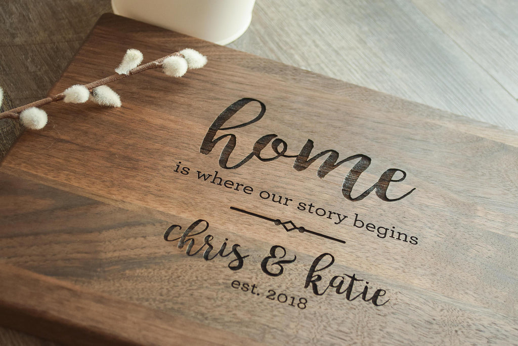 Home Gift Christmas Custom Personalized Cutting Board For Wedding Gift