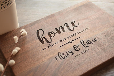 Personalized Cutting Board - Engraved Cutting Board, Custom Cutting Board, Wedding Gift, Housewarming Gift, Anniversary Gift, Christmas Gift-Circle City Design Co.