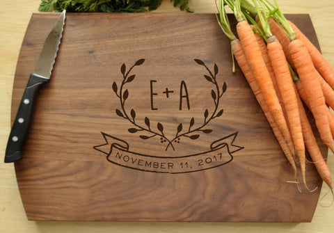 Personalized Cutting Board - Engraved Cutting Board, Custom Cutting Board, Wedding Gift, Housewarming Gift, Anniversary Gift, Engagement-Circle City Design Co.