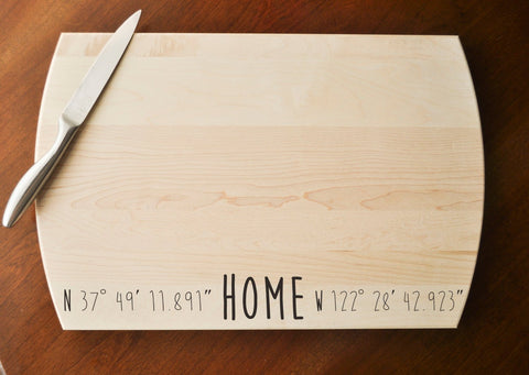Personalized Cutting Board - Engraved Cutting Board, Custom Cutting Board, Wedding Gift, Housewarming Gift, Anniversary Gift, Realtor Gift-Circle City Design Co.