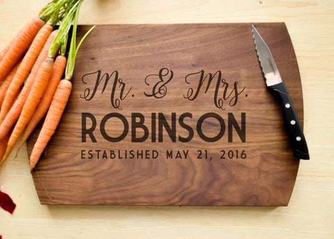 Personalized Cutting Board, Engraved Cutting Board, Custom Cutting Board, Wedding Gift, Housewarming Gift, Anniversary Gift, Realtor Gift-Circle City Design Co.