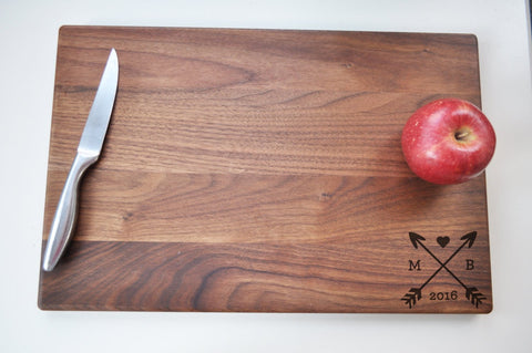 Personalized Cutting Board - Engraved Cutting Board, Custom Cutting Board, Wedding Gift, Housewarming Gift, Christmas Gift, Arrows-Circle City Design Co.