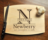 Personalized Cutting Board - Engraved Cutting Board, Custom Personalized Wedding Gift, Housewarming Gift, Anniversary, Christmas Gift, Maple-Circle City Design Co.