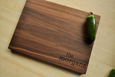 Personalized Cutting Board - Engraved Cutting Board, Custom Personalized Wedding Gift, Housewarming Gift, Anniversary, Christmas Gift-Circle City Design Co.