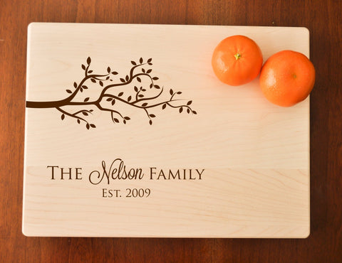 Personalized Cutting Board - Engraved Cutting Board, Custom Personalized Wedding Gift, Housewarming Gift, Anniversary, Couple Cutting Board-Circle City Design Co.