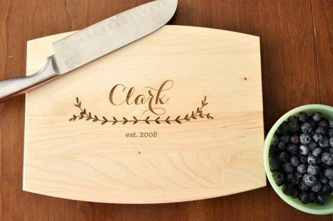 Personalized Engraved Cutting Board, Custom Cutting Board, Personalized Wedding Gift, Housewarming Gift, Anniversary Gift-Circle City Design Co.