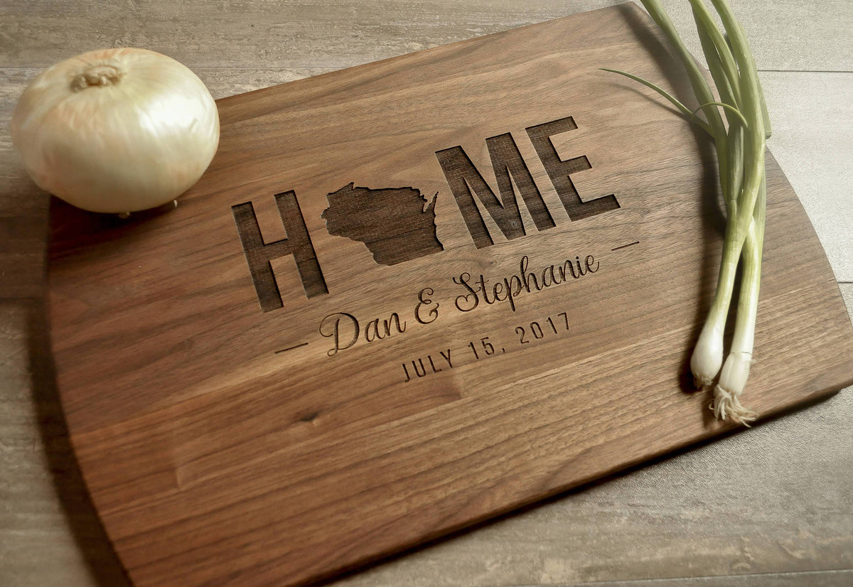 Monogramed Wedding Gifts: Realtor Gift, Personalized Cutting Board, Custom Cutting