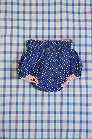 Baby Reversible Pink Dots/Blue Dots Bloomer