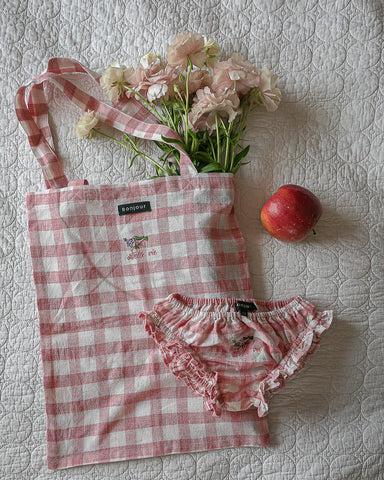The rose Vichy mini tote bag