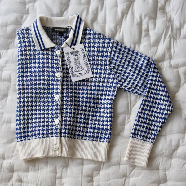Houndstooth Knitted Cardigan