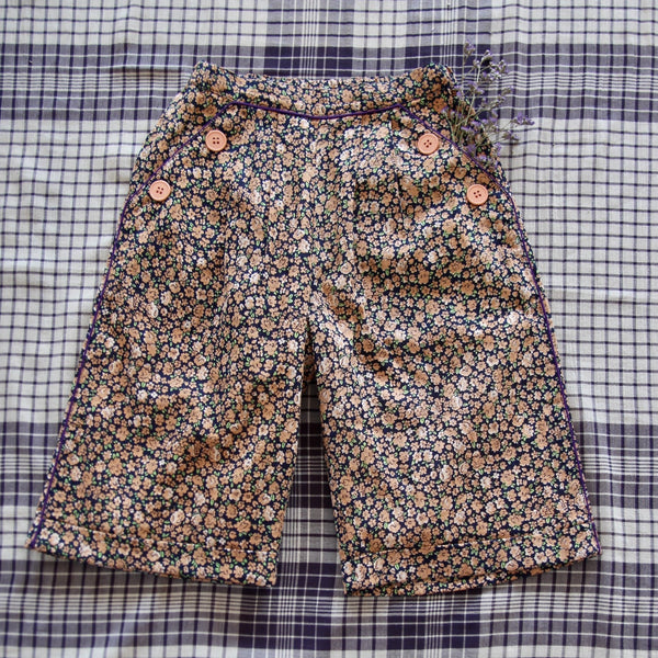 Little Violet Flowers Pants