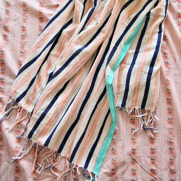 Transat Stripes Pareo with Fringes