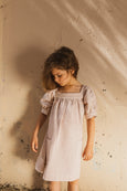 Rose Stripes Hand Woven Dress