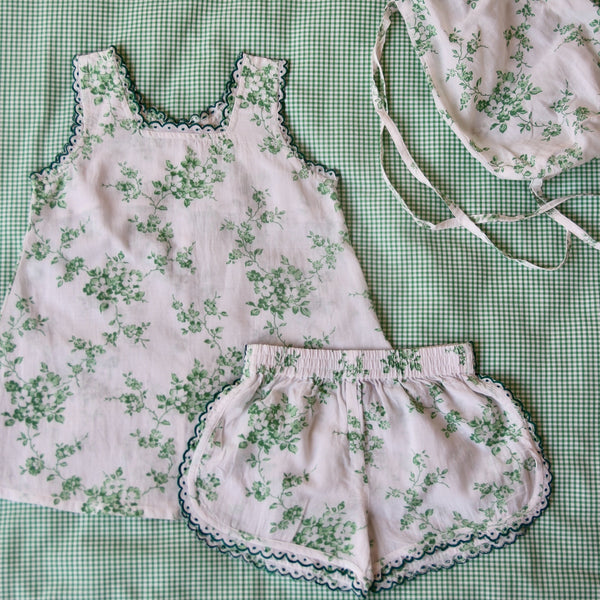 Green Flowers Pyjama Set