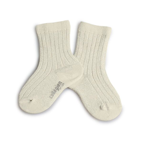 Lurex Ankle Socks Milk