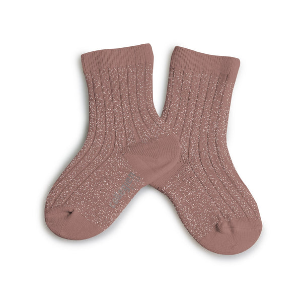 Lurex Ankle Socks Praline