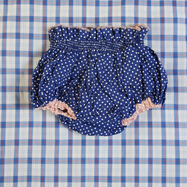 Baby Reversible Blue Dots/Pink Dots Bloomer
