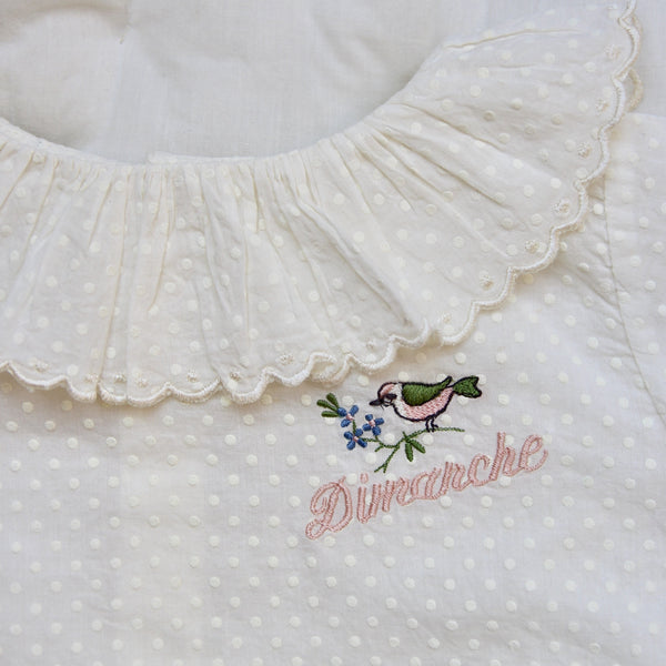 Baby Flounce Blouse with Embroidery