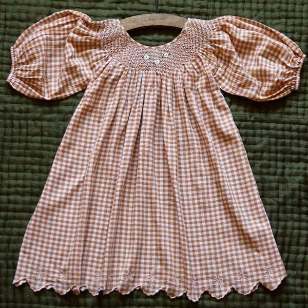 Orange Gingham Butterfly Dress