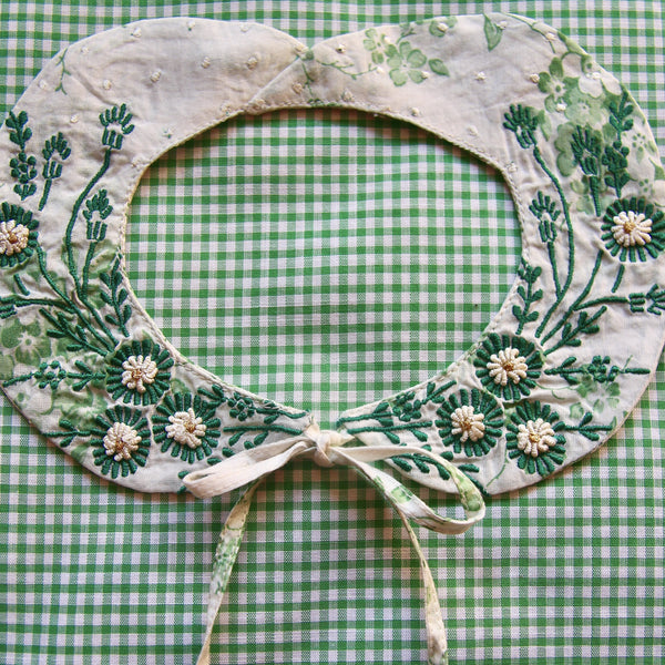 Floral Embroidered Collar