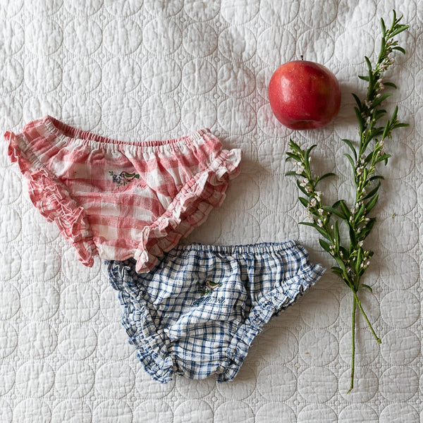Rose/Blue Gingham Panty Set
