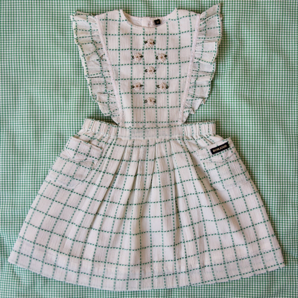 Green Check Apron Dress