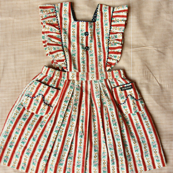 Wallpaper Stripe Apron Dress