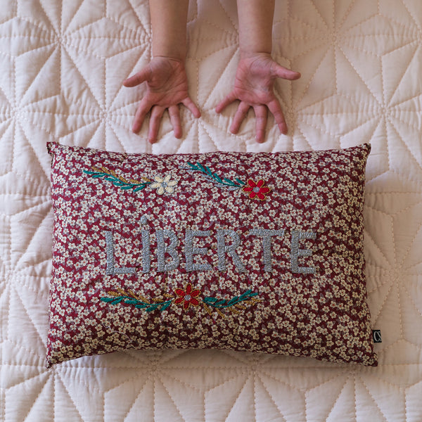 LIBERTÉ Embroidered Pillow