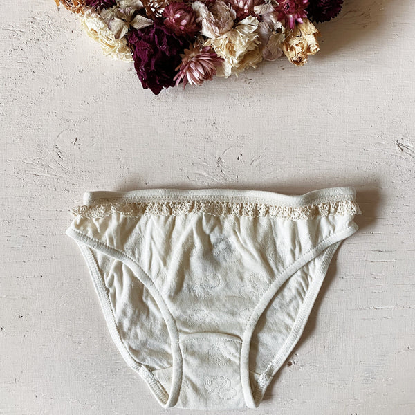 Cream Organic Cotton Panty