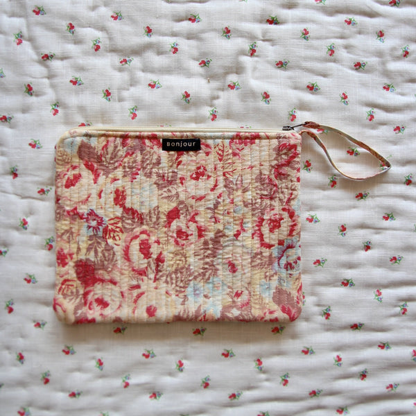 Faded Roses Pencil or Make-up Case