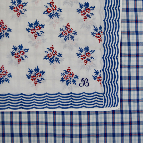 Red/Blue Flowers Scarf