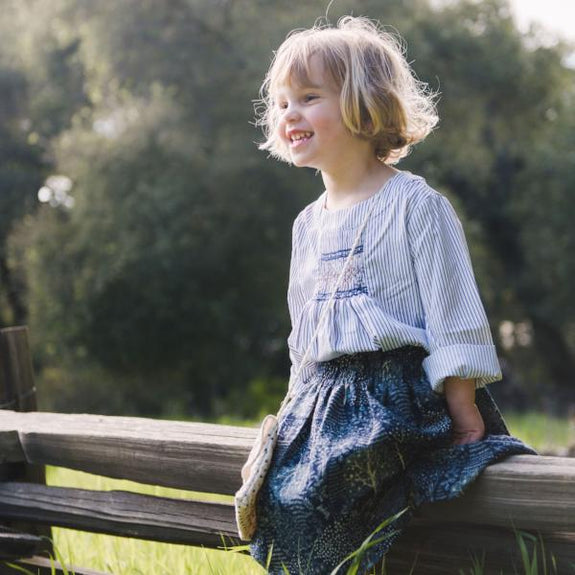 Rosemary Smocked Top Stripes
