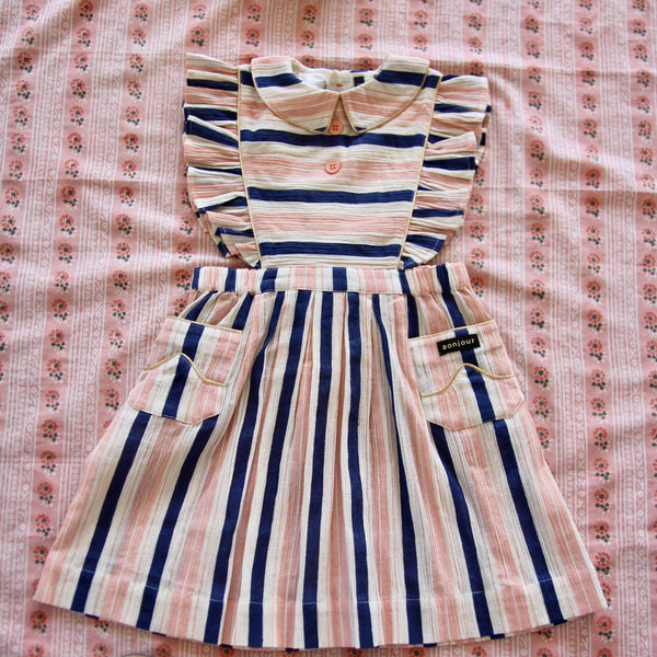 Transat Stripes Apron Dress