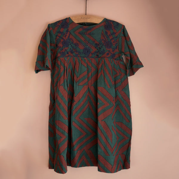 Victor Vasarely Embroidered Dress