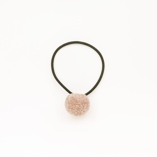 Hair tie with Handcrafted Pompon Rose