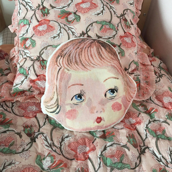 Dolly Face Pillow by Nathalie Lété