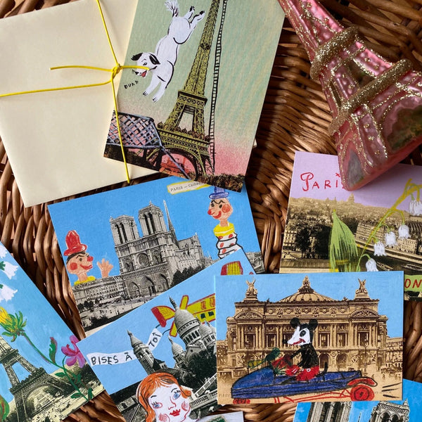 Paris mini cards by Nathalie Lété