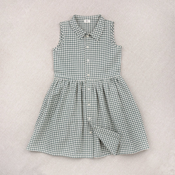 Teal Gingham Dress