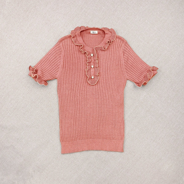 Rose Cotton/Silk Knitted Sweater